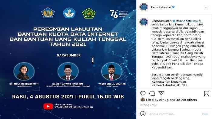 Kuota Internet Gratis dari Kemdikbud akan Ada Lagi, Ini Syaratnya