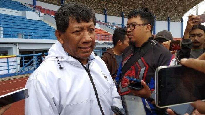 Kuswara S Taryono di Stadion SPOrT Jabar Arcamanik, Kamis (24/1/2019).