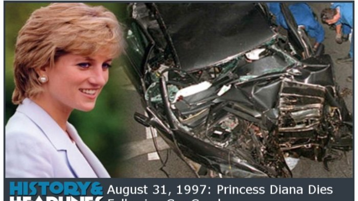 Kecelakaan di Paris Perancis pada 31 Agustus 1997 yang menewaskan Lady Di alias Putri Diana.