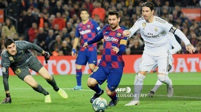 LIVE Streaming El Clasico Liga Spanyol Real Madrid vs Barcelona di Sini