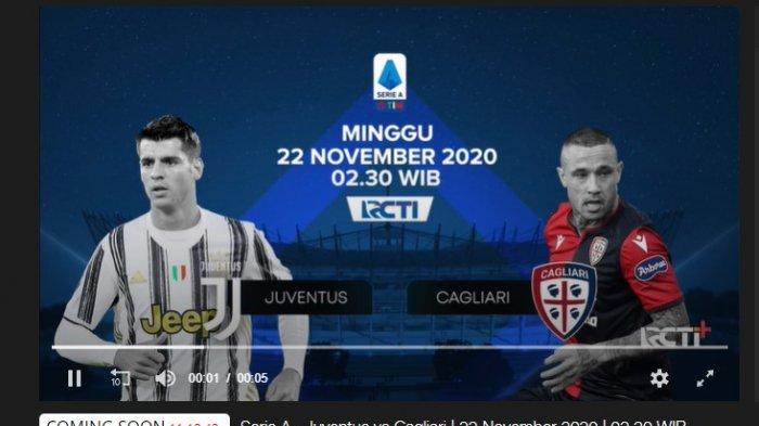 LIVE STREAMING RCTI Juventus vs Cagliari, Tonton di Sini, GRATIS