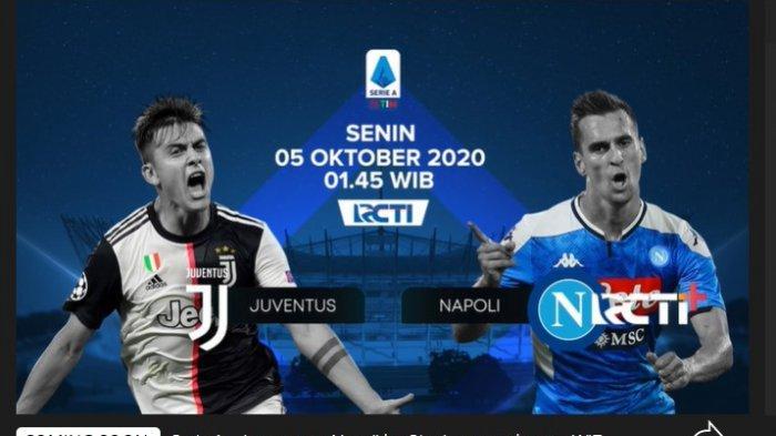 Laga Juventus vs Napoli live di RCTI