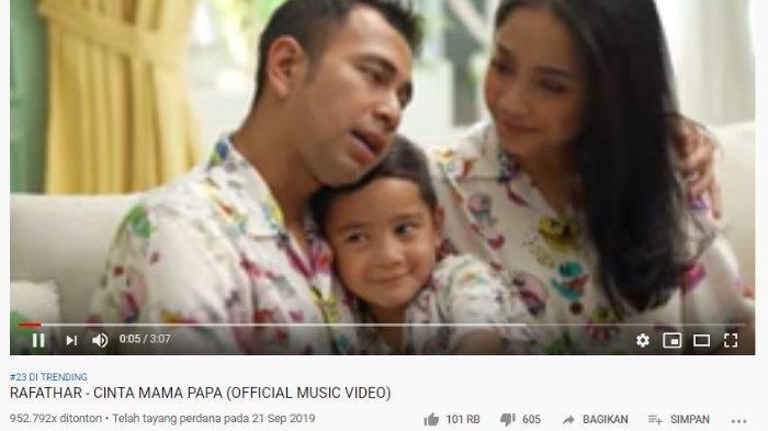 Lagu Cinta Mama Papa Trending #23 di Youtube