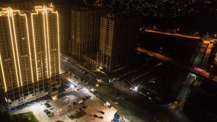 Jelang Penerapan New Normal, Lahan Parkir District 1 Meikarta Dijadikan seperti Teater Drive In