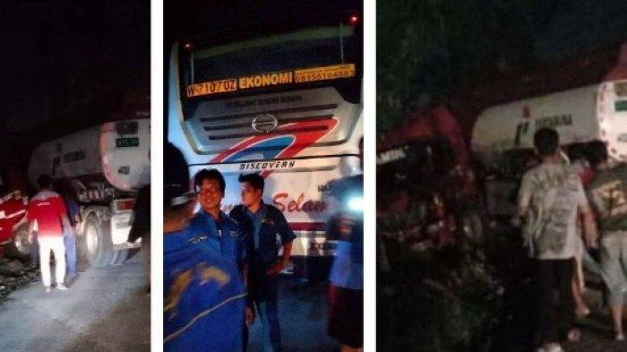 Kecelakaan Bus Vs Truk Pertamina di Dekat Jembatan Timbang Toyogo, Polisi : Tak Ada Korban Jiwa