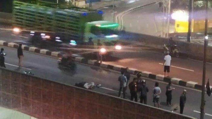 Kecelakaan di Flyover Gaplek, Remaja Tewas dan Motornya Ringsek