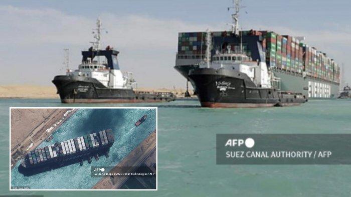 Lalu lintas di Terusan Suez Mesir telah kembali normal setelah kapal kontainer terdampar yang memblokir perairan selama hampir seminggu akhirnya dibebaskan oleh kru penyelamat.