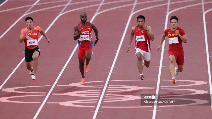 Hasil Atletik Olimpiade 2021 - Finis Kelima, Lalu Zohri Gagal Tembus Babak Semifinal