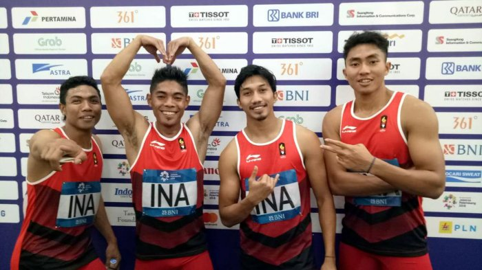 Raih Medali Perak Lari Estafet 4 x 100 Meter, Zohri Kembali Cetak Sejarah Baru untuk Indonesia