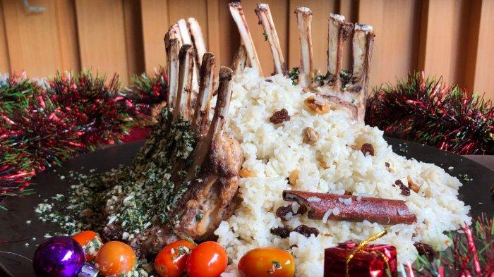 Lamb Rack for New Year's Eve Carnival Party.