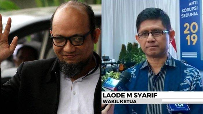 Wakil Ketua KPK Laode M. Syarif kembali meminta agar pengusutan teror terhadap penyidik KPK Novel Baswedan segera dituntaskan. Ia menegaskan pejuang antikorupsi tidak boleh terintimidasi. (Tangkapan Layar Kompas TV dan Tribunnews.com)