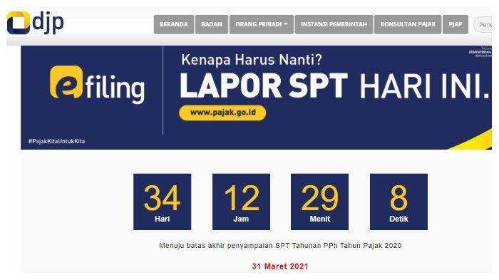 Cara Lapor SPT Tahunan 2020 secara Online, Batas Waktu sampai 31 Maret 2021