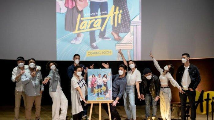 Tim film Lara Ati, jumpa pers melalui daring, Jumat (5/3/2021).