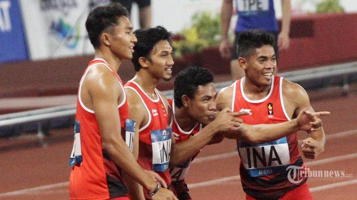 Kejutan, Lalu Muhammad Zohri Cs Kalahkan China Raih Medali Perak dari Atletik Nomor Lari Estafet