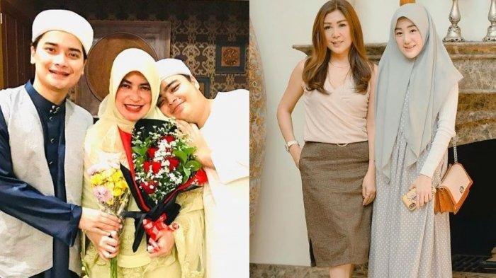 Potret harmonis keluarga Umi Yuni ibu Alvin Faiz dan Julie Tan, ibu Larissa Chou.