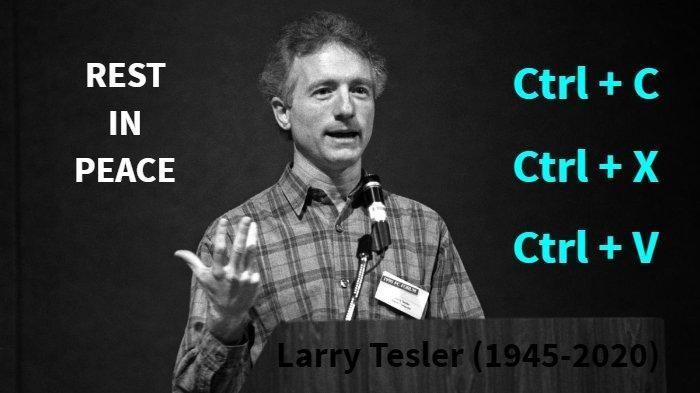 Berita Duka dari Dunia Komputer: Penemu Cut, Copy, dan Paste, Larry Tesler Meninggal Dunia