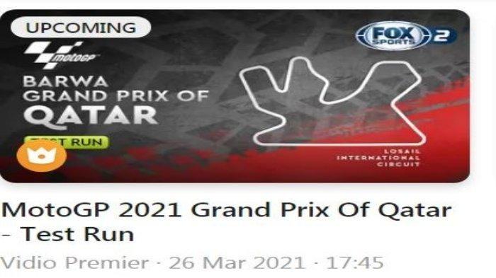 Latihan bebas (FP) pertama dan kedua MotoGP Qatar 2021 berlangsung pada Jumat (26/3/2021) mulai pukul 17.45 WIB, Live Fox Sports via Vidio.com.