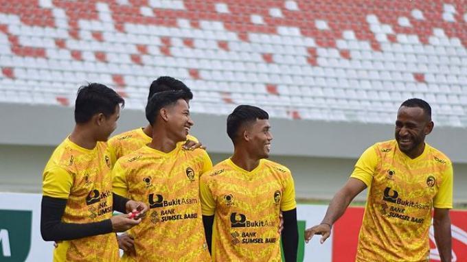 Latihan Sriwijaya FC sebagai persiapan Liga 2 2021.