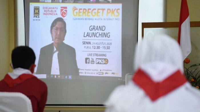 PKS Luncurkan Gerakan Nasional Berbagi Kuota Internet untuk Pelajar dan Mahasiswa