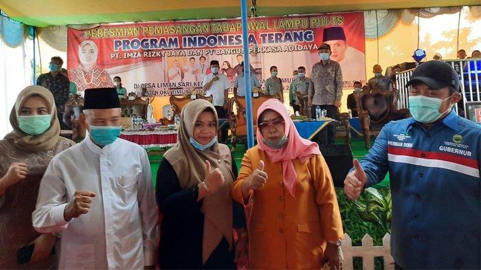 Gubernur Sumatera Selatan Resmikan PJU-TS Program PT. Imza Rizki Jaya Grup