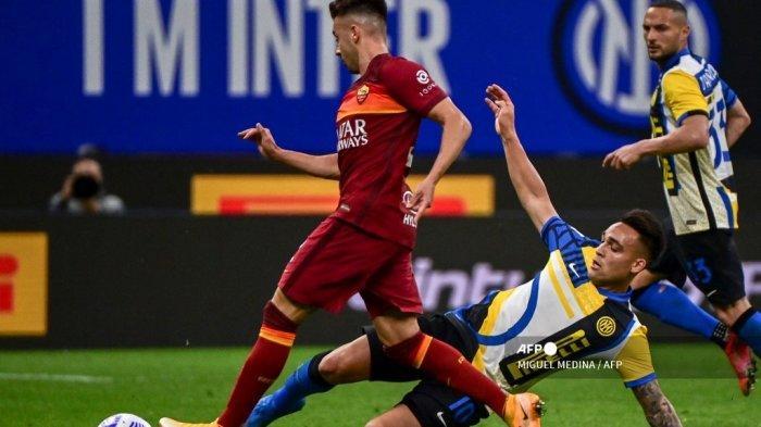 Drama Inter Milan Hajar AS Roma, Lautaro Kena Semprot Conte Gegara Tendang Botol saat Diganti