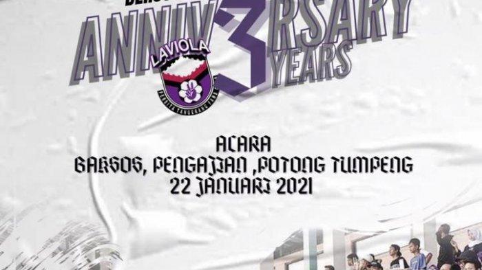 Hari Jadi ke 3 Tahun, Suporter Persita, Laviola Ajak Persita Fans Galang Dana untuk Sosial