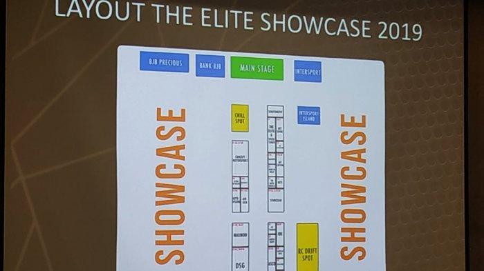 Layout event 'The Elite Showcase 2019' pada 23-23 November 2019 di Hall 2-3 ICE BSD City, Tangerang.