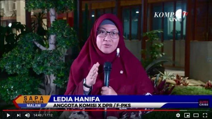 Ledia Hanifah Anggota Komisi X DPR Fraksi PKS