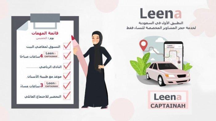Leena Kini Jadi Aplikasi Taksi Online Pertama Khusus Wanita di Arab Saudi