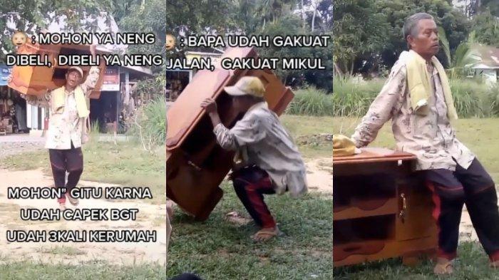 Viral Kisah Kakek Penjual Lemari yang Memohon agar Jualannya Dibeli: Bapak Sudah Enggak Kuat Memikul
