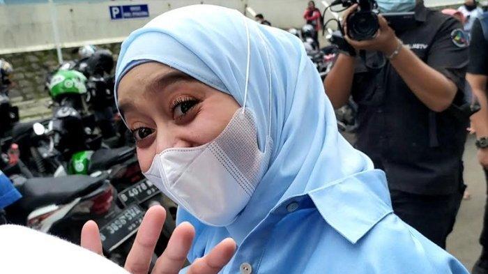 Lesti Kejora ditemui di gedung Trans TV, Jalan Kapten Tendean, Mampang Prapatan, Jakarta Selatan, Minggu (10/1/2021).
