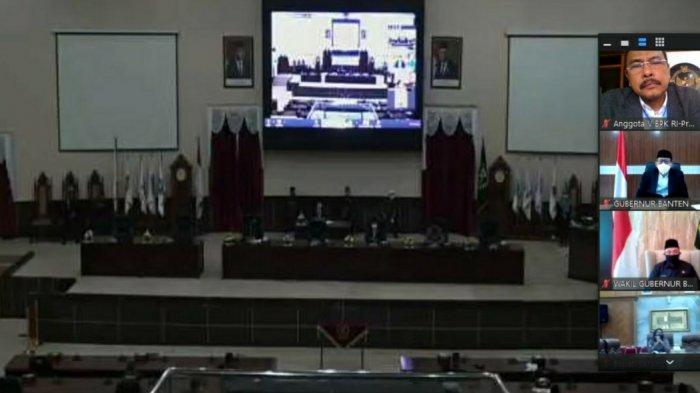 Untuk Pertama Kali LHP LKPD Provinsi Banten Diserahkan Lewat Video Conference