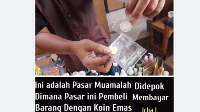 Lihat Foto Pasar muamalah di Jalan Raya Tanah Baru, Beji, Depok, Jawa Barat, ramai diperbincangkan netizen di media sosial. (Facebook).