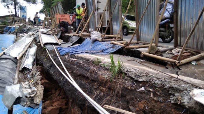 Penampakan Tanah di Jalur Puncak Bogor Retak Parah, Dirjen Bina Marga Lakukan Investigasi