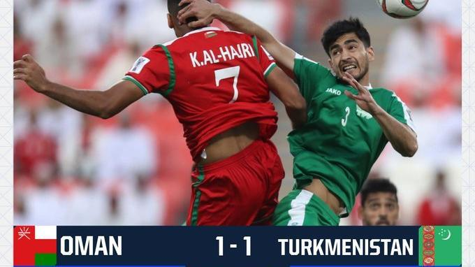 Link Live Score Babak Pertama Oman Vs Turkmenistan Piala Asia AFC 2019, Skor Sementara 1-1