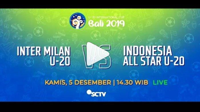 LINK LIVE STREAMING Timnas U-20 Indonesia vs Inter Milan Bali International Cup, Gak Bakal Buffering
