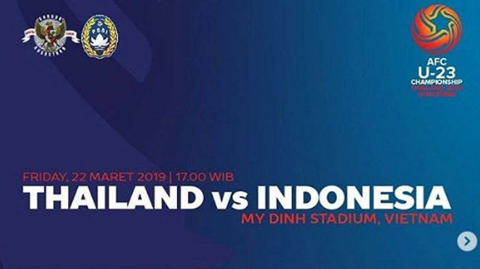 Update Skor, Timnas U-23 Indonesia vs Thailand Piala Asia U-23 2020, Tim Garuda Tertinggal 0-1