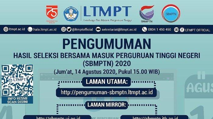 Pendaftaran SBMPTN Dibuka 15 Maret Hingga 1 April 2021