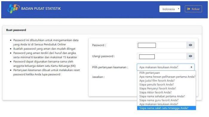 Login sensus.bps.go.id, Segera Isi Data Sensus Penduduk