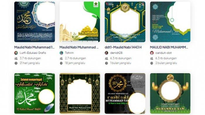 LINK Twibbon Maulid Prophet Muhammad SAW 1443 H / 2021 AD, how to do it