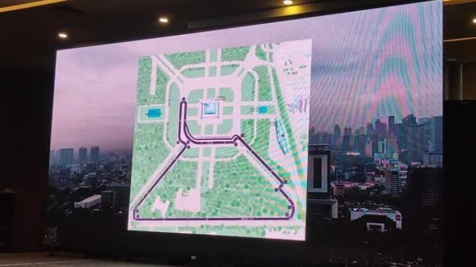 Trek Resmi Formula E di Monas, Garis Start dan Finish di Depan Kantor Gubernur DKI Jakarta
