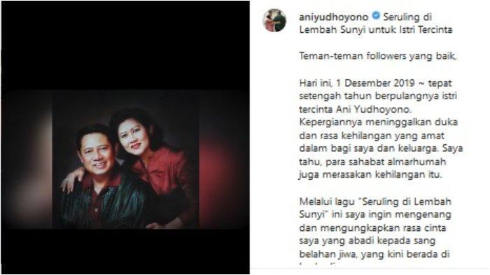 Lirik Lagu 'Seruling di Lembah Sunyi', Persembahan SBY untuk Mendiang Ani Yudhoyono