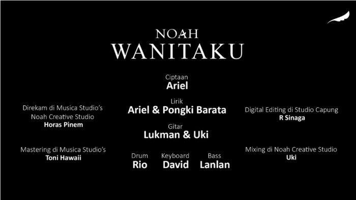 Lirik Lagu Wanitaku Ciptaan Noah, Libatkan Pongki Jikustik