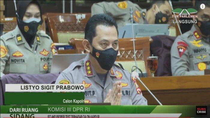 Calon Kepala Kepolisian Negara Republik Indonesia (Kapolri), Komjen Listyo Sigit Prabowo menjalani fit and proper test atau uji kelayakan dan kepatutan di Komisi III DPR RI, Rabu (20/1/2021).