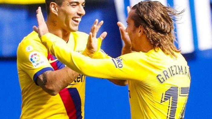 SEDANG BERLANGSUNG Live Streaming Atletico Madrid vs Barcelona, Griezmann dan Suarez Jadi Andalan