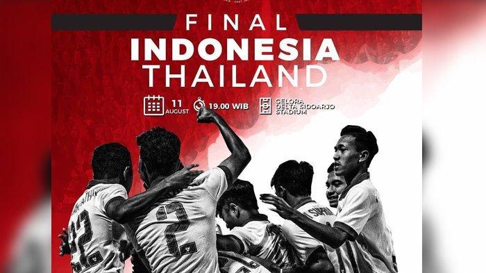 Link Live Streaming Final Piala AFF U-16 Indonesia vs Thailand di Indosiar