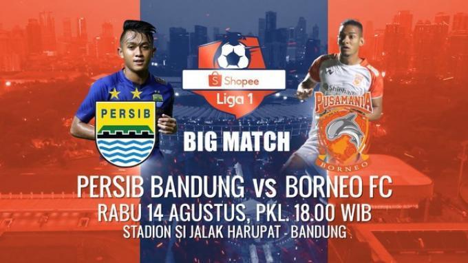 Live Indosiar, Link Live Streaming Persib Bandung Vs Borneo FC Petang Ini