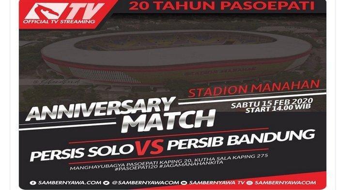 Bobotoh Diminta Tak Datang ke Stadion, Ini Link Live Streaming Persis Solo Vs Persib Bandung