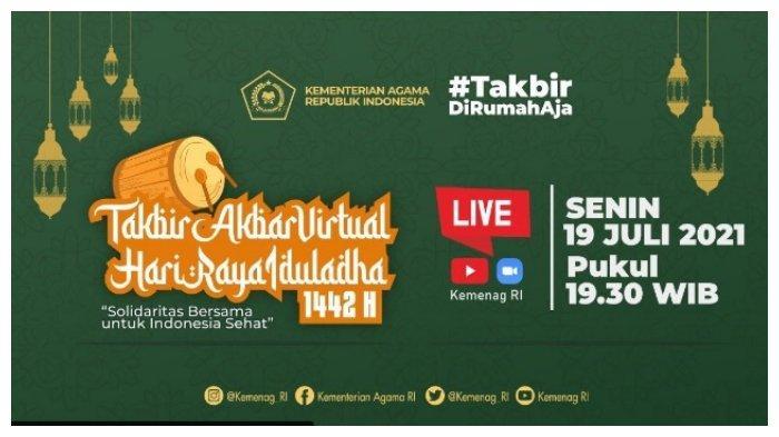 Link Live Streaming Takbir Akbar Malam Idul Adha 2021, Beserta Bacaan Takbiran Tulisan Arab & Latin