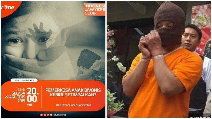 Live Streaming TVOne ILC Malam Ini, Tema: Pemerkosa Anak Divonis Kebiri: Setimpalkah?